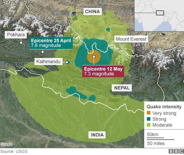 Nepalul s-a zguduit din noi